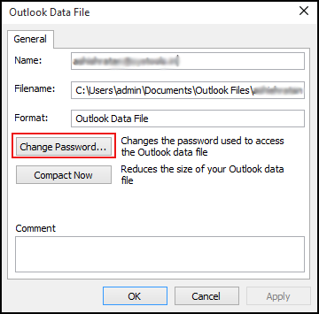 how to remove password from outlook 2016