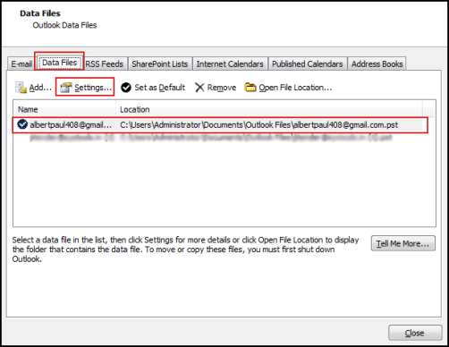 how to remove password from outlook PST file