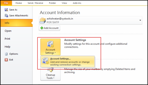 how to remove password from outlook data file
