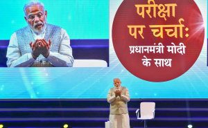 Every Indian child is really a 'born politician', Narendra Modi states at Pariksha Componen Charcha event