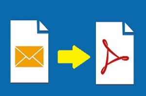 convert MSG format to PDF